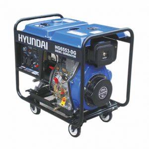 موتور برق 5300 وات گازوئیلی هیوندای مدل HG6553-DG